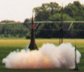 Sprint liftoff at T = 0.0 seconds